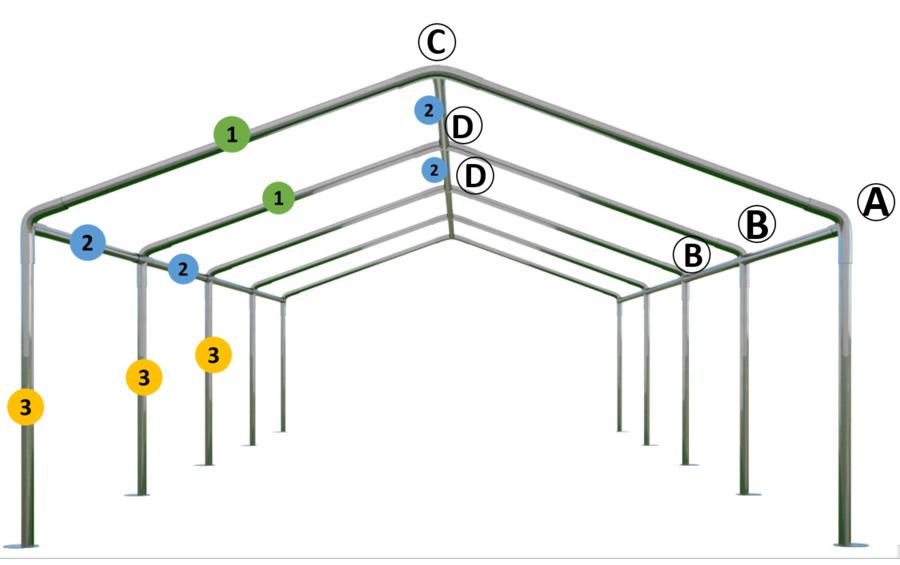 Aufbauanleitung 4x8 m Zelt